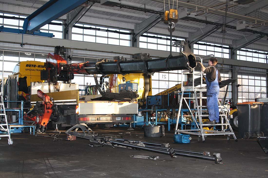 Frank Fahrzeugbau Ladekran Reparatur