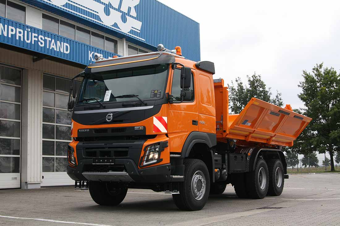 vehicle construction side tipper